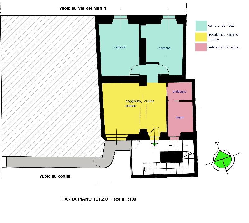 appartamento ristrutturato a nuovo in palazzo d'epoca Alessandria
